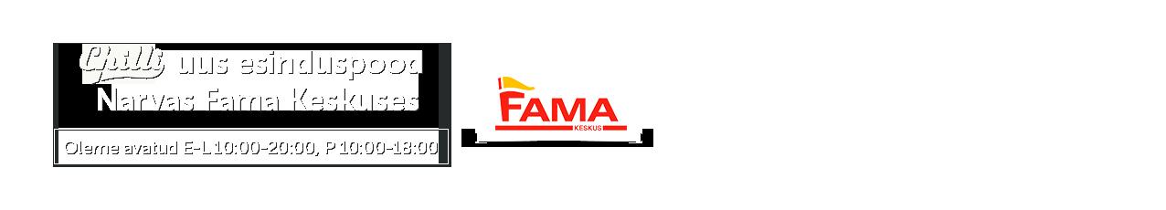 Chilli uus esinduspood Narvas Fama Keskuses