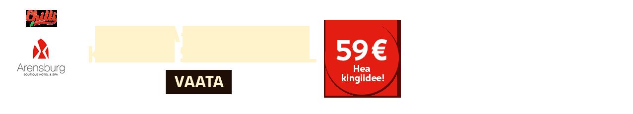 Arensburg - Spaa-puhkus kahele 59€